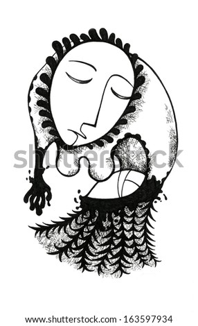 Mother and lullaby - stock photo