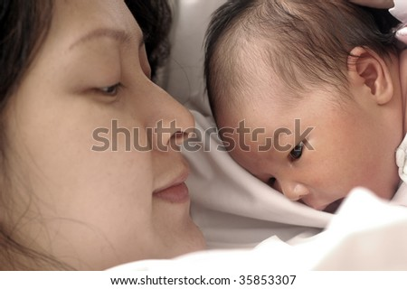 mother and newborn baby