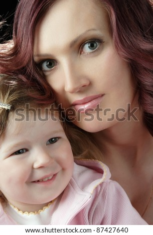 Mother and son in the artistic photo shoots