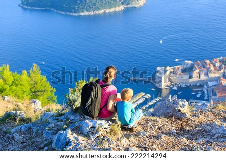 mother and son travel in Europe, Croatia