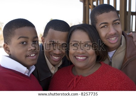 Mother and sons