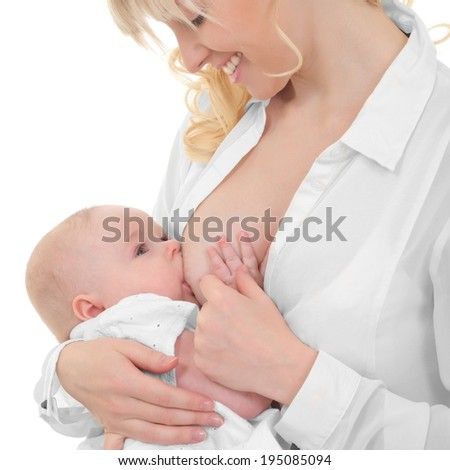 mother breast feeding her child