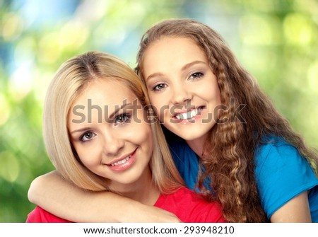 Mother, daughter, adult. - stock photo