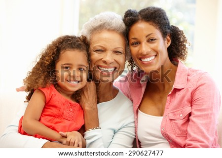 Mother,daughter and granddaughter