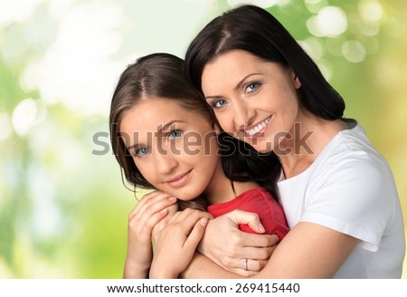 Mother, Daughter, Teenager. - stock photo