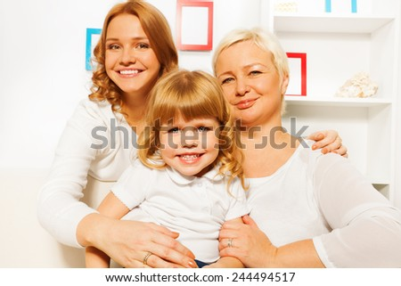 Mother dauhter and grandmother portrait