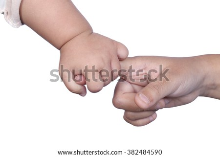 Mother handshake - stock photo