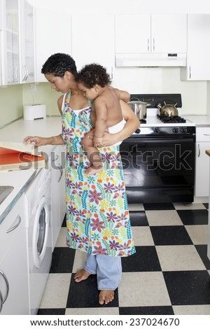 Mother Holding Child - stock photo