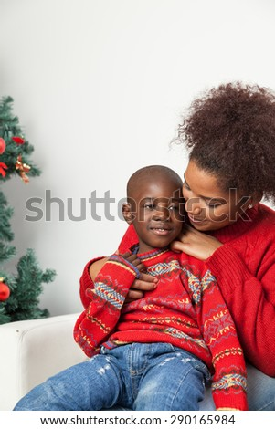 Mother hug her child - stock photo