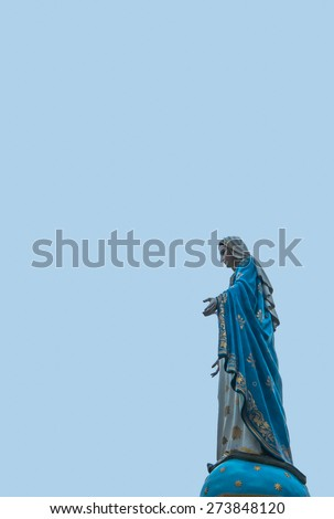 Mother Mary statue - stock photo