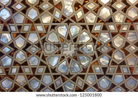 Mother of Pearl Mosaic from Istanbul - stock photo