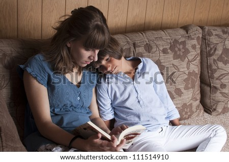 mother reading a bed time story