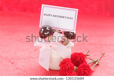 Mother's day cake pops - stock photo