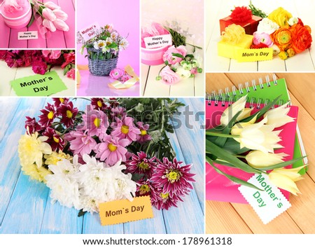 Mother's day collage - stock photo