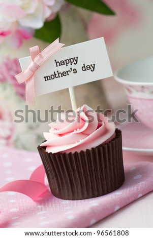 Mother's day cupcake - stock photo
