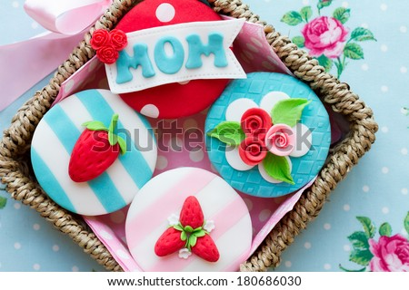Mother's day cupcakes - stock photo