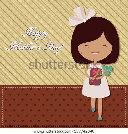 Mother's Day greeting card - stock photo