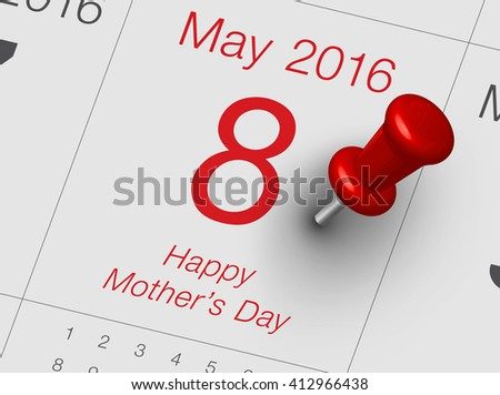 Mother's Day is observed the second Sunday in May. It is a time to honor mothers, grandmothers, and great-grandmothers for their contribution to family and society. - stock photo