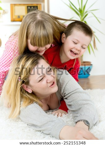 mother's Day with children/mother's Day with children - stock photo