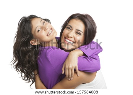 Mother smiling with her daughter  - stock photo