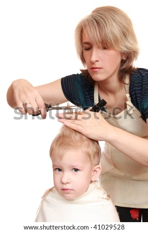 Mother trim 2.5-year-old son