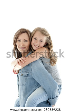 Mother with daughter - stock photo