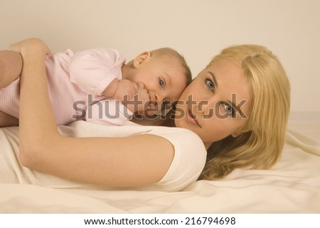 Mother with her baby. - stock photo
