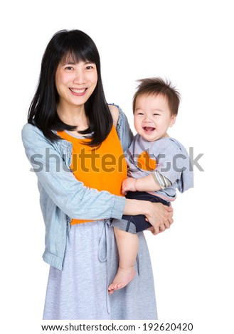 Mother with her baby son - stock photo