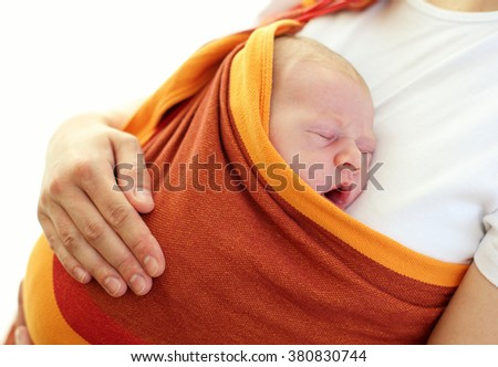Mother with her lovely baby - stock photo