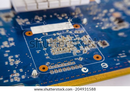 motherboard, computer electronics - stock photo