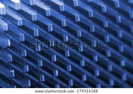 Motherboard details: CPU cooler close up - stock photo