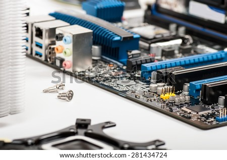 motherboard's computer - stock photo