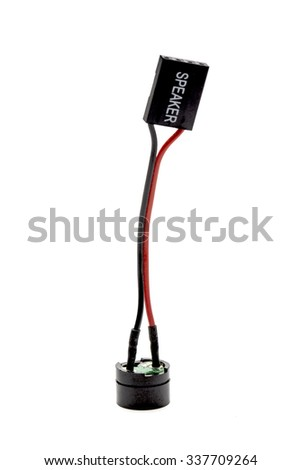 Motherboard speaker - stock photo