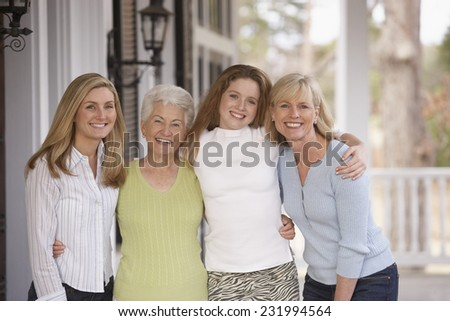 Mothers and Daughters - stock photo
