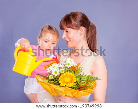 mothers day fathers day flower gift - stock photo