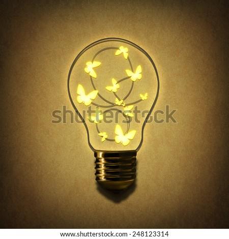 moths to a light bulb - stock photo