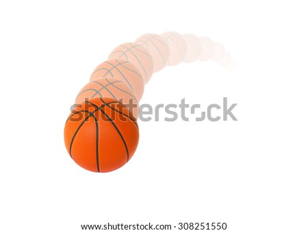 Motion basketball isolated on a white background - stock photo