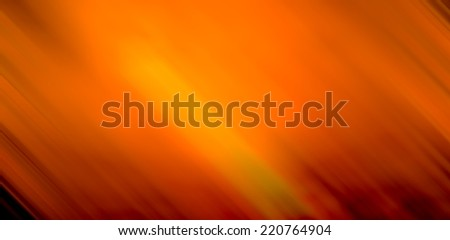 Motion blur abstract background in yellow and orange sunset tone - stock photo