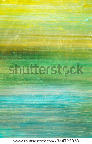 Motion blur abstract colorful natural background in summer green and blue tones. - stock photo