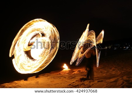 Motion Blur : Abstract Fire Drawing.