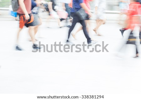 motion blur crowd walking