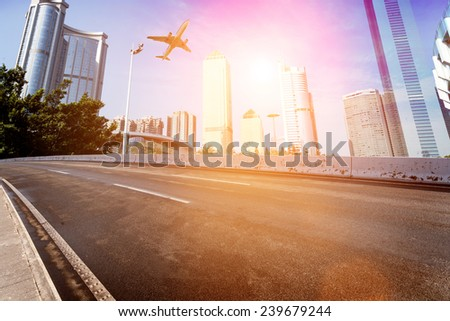 Motion blur image of traffic in Beijing, - stock photo