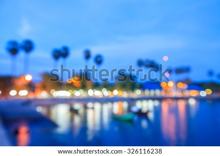 Motion blur light at the beach. - stock photo