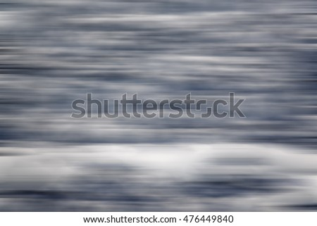 Motion blur of glacial ice floe