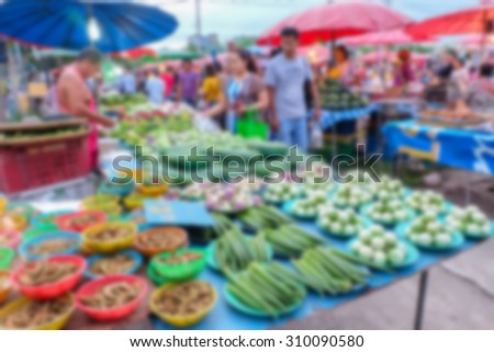 Motion blur of market plaza view background