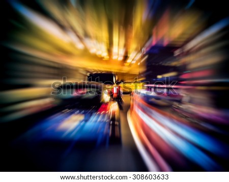 Motion blur on the road