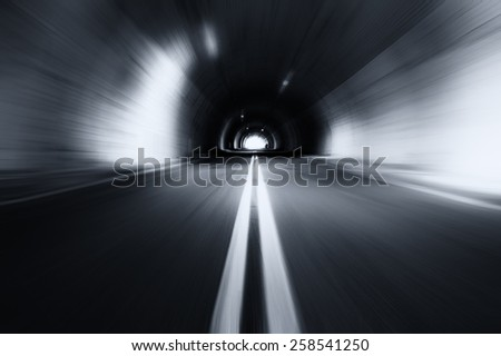 Motion blured old tunnel  - stock photo