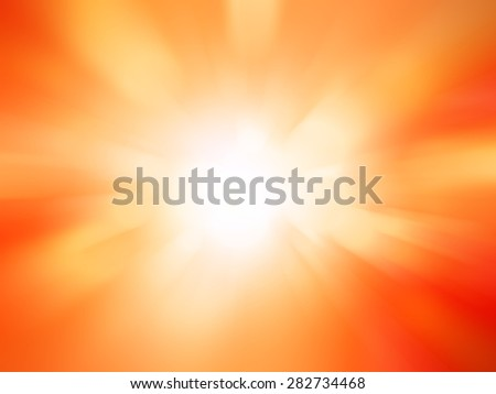 motion blurred lights abstract background , orange background.