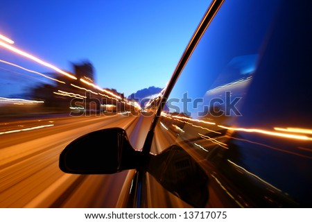 motion blurred transportation background - stock photo