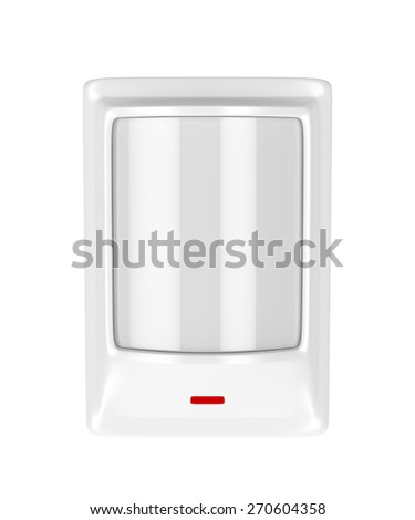 Motion detector isolated on white background - stock photo